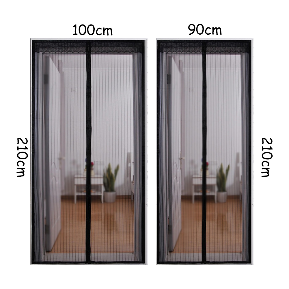 Magnetic Screen Door Velcro Curtain Close Automatically Stop Flies