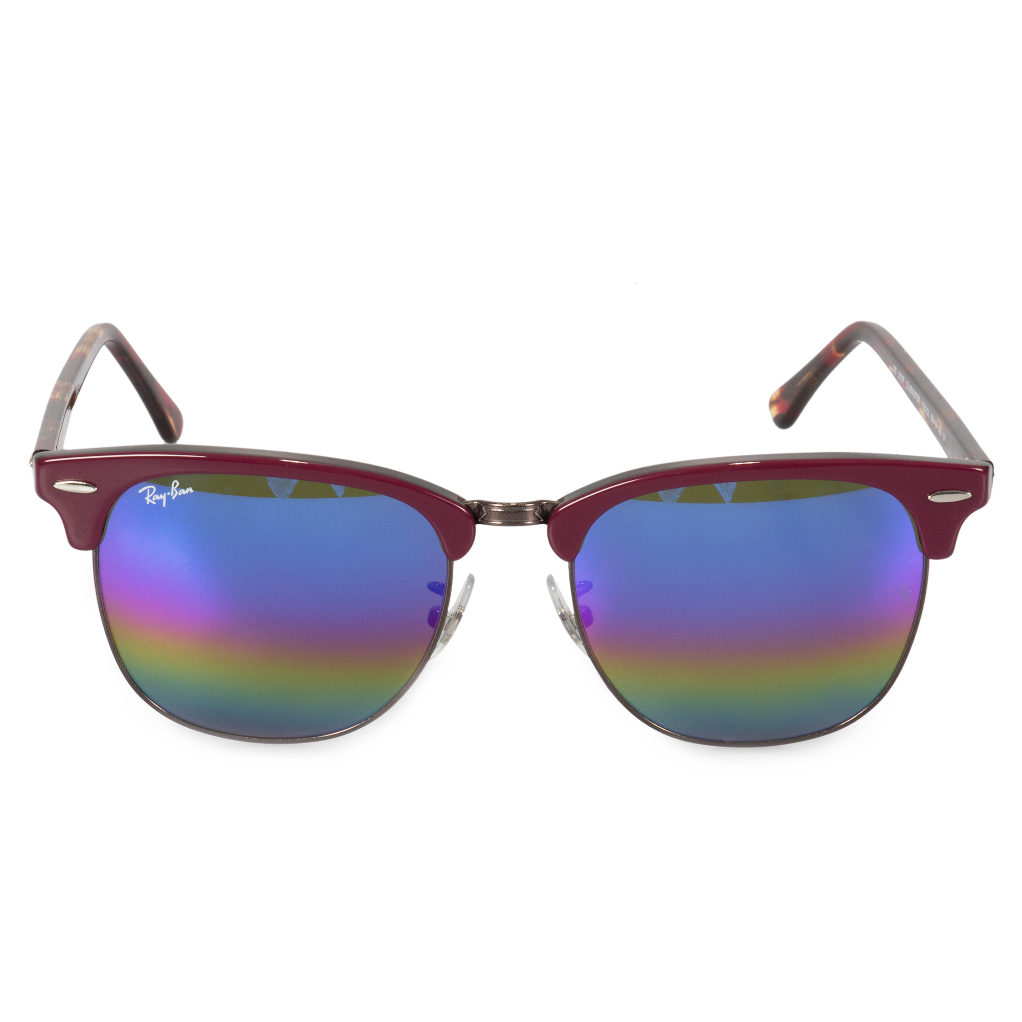 71212af4103aa Ray-Ban Clubmaster Mineral Flash Lens Sunglasses RB3016-F 1222C2 55 ...