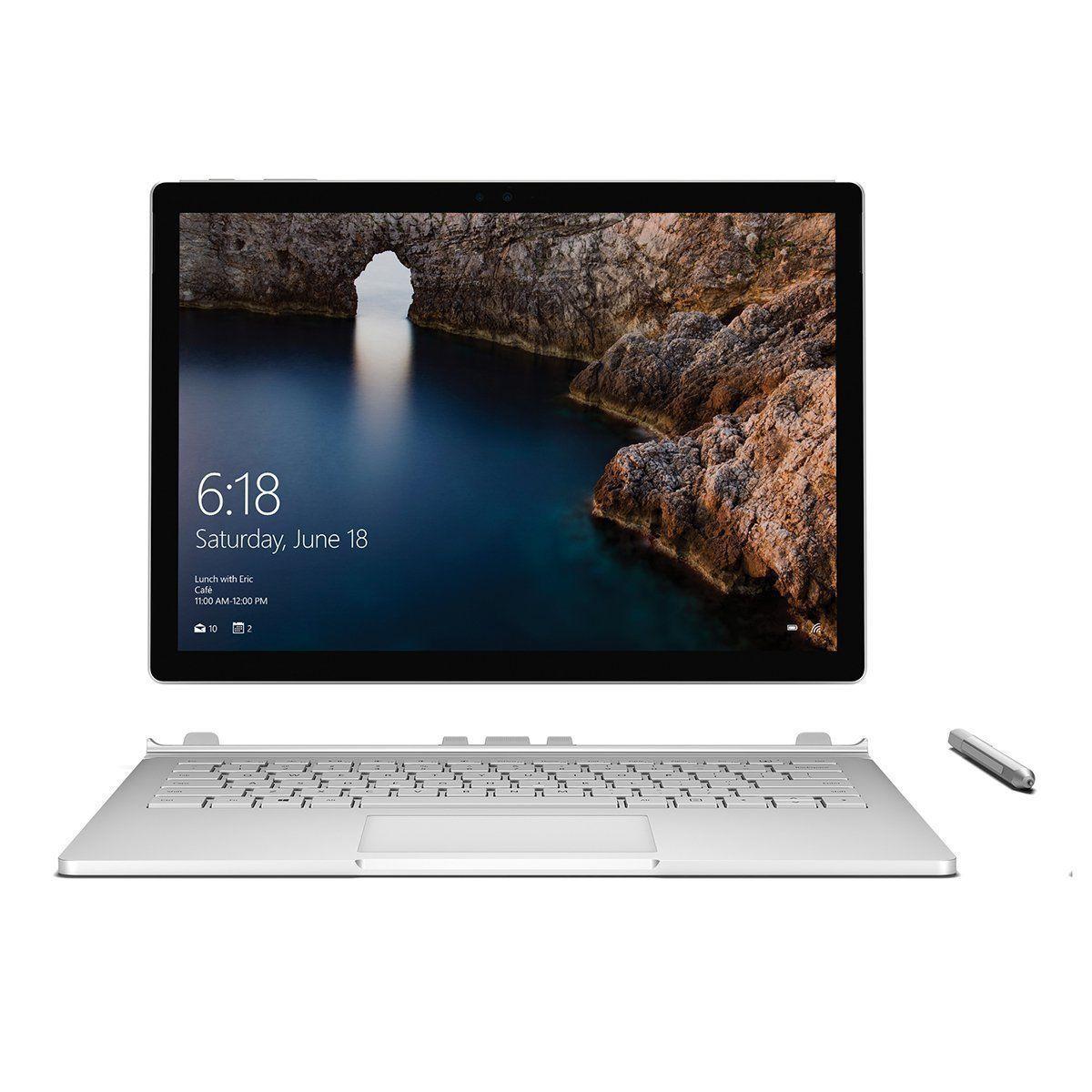 Microsoft Surface Book 135 Inch Intel I5 6300u 24ghz 128gb Ssd 8gb Pro 4 Core 4gb Windows 10 Silver Win