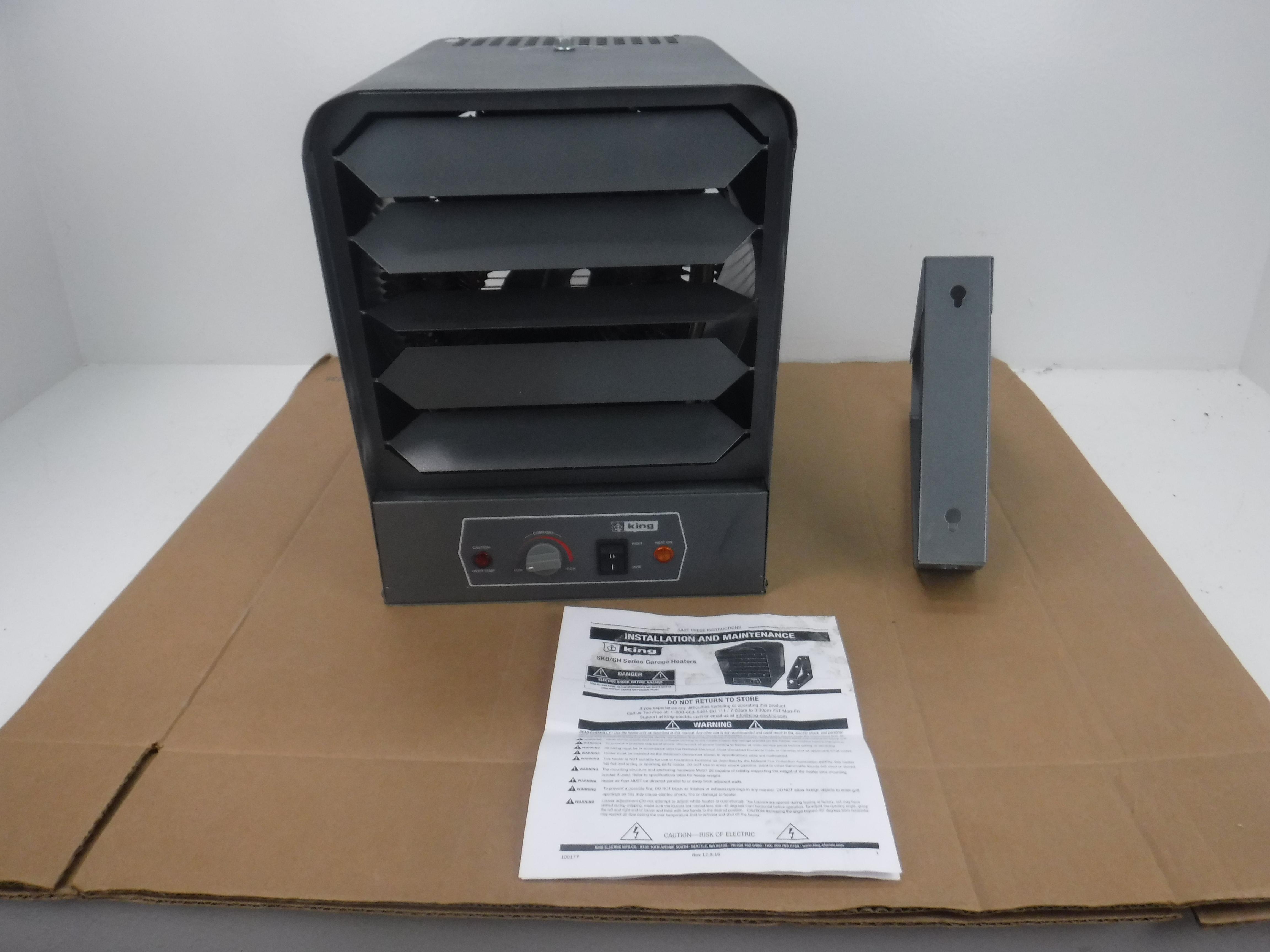 King Electric GH2407TB 240V 7500W Garage Heater with Bracket