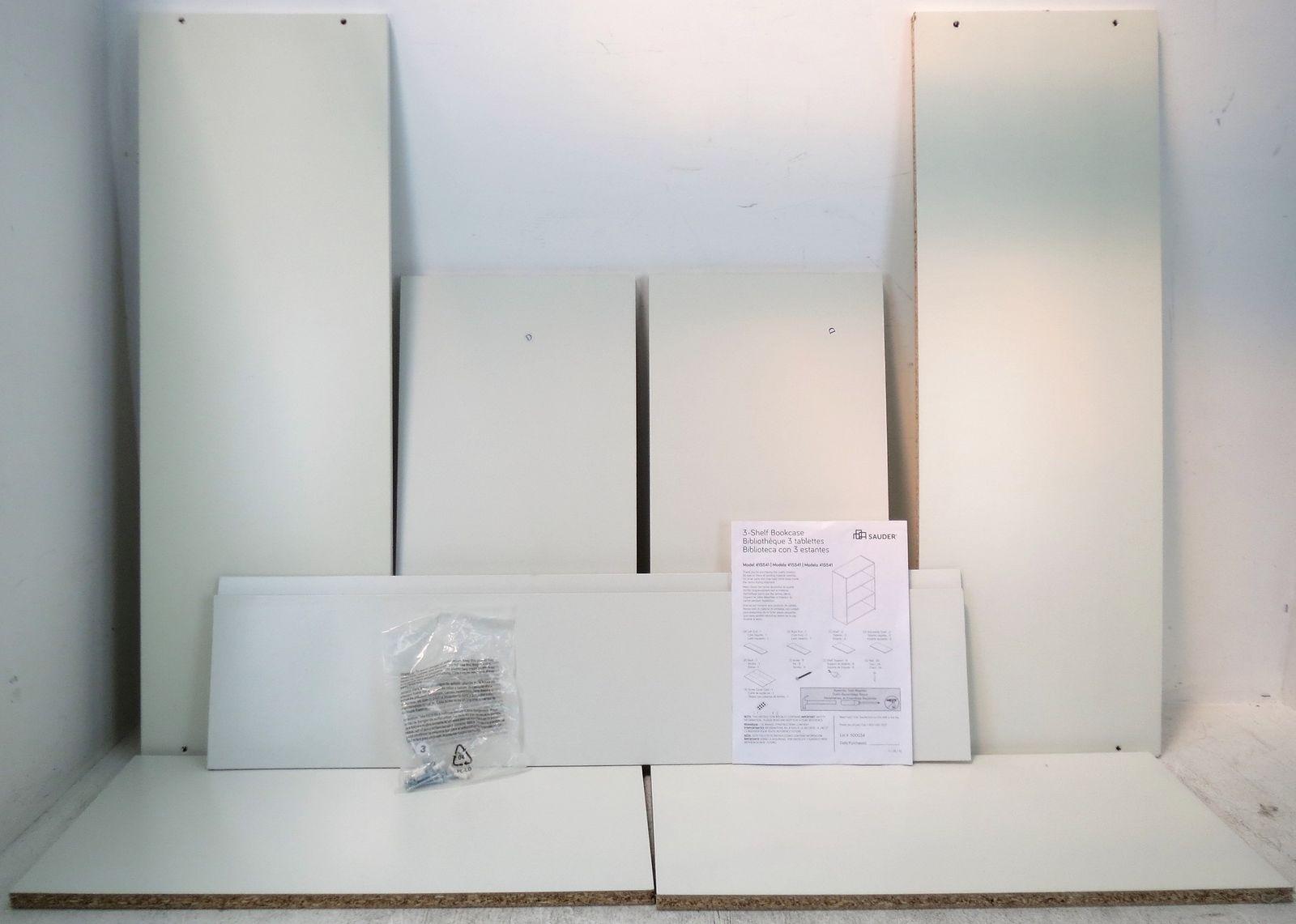 Sauder Beginnings 3-Shelf Bookcase, Soft White See Details | EBay