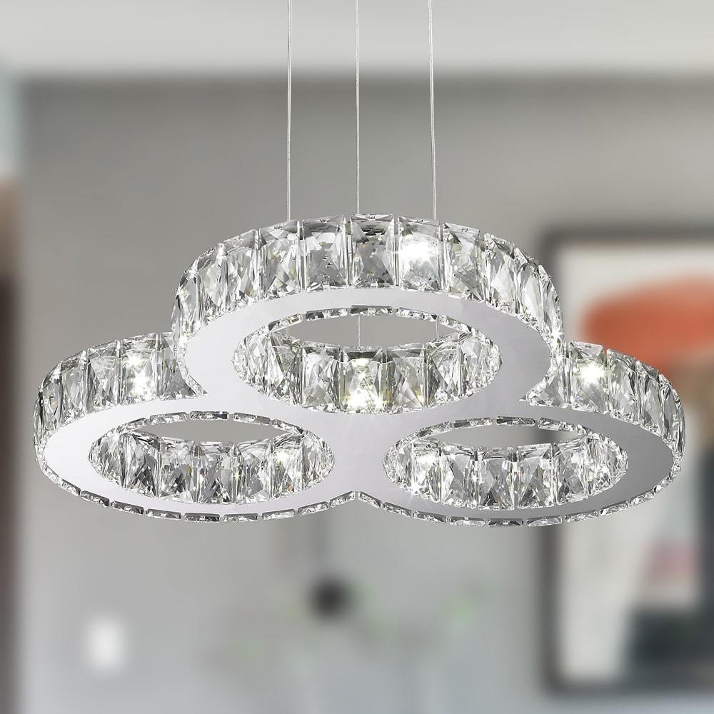Galaxy-27-LED-Light-Chrome-Finish-Triple-Ring-Chandelier