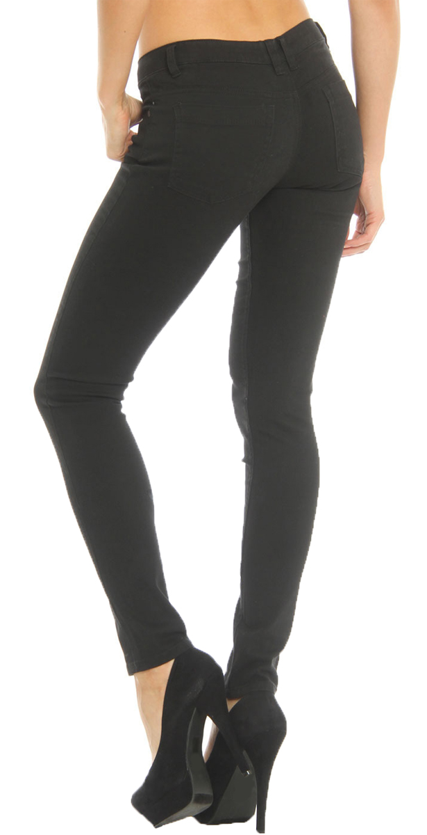 85e598d5aa3 Hey Collection Womens Juniors Low Rise Brushed Stretch Skinny Twill ...