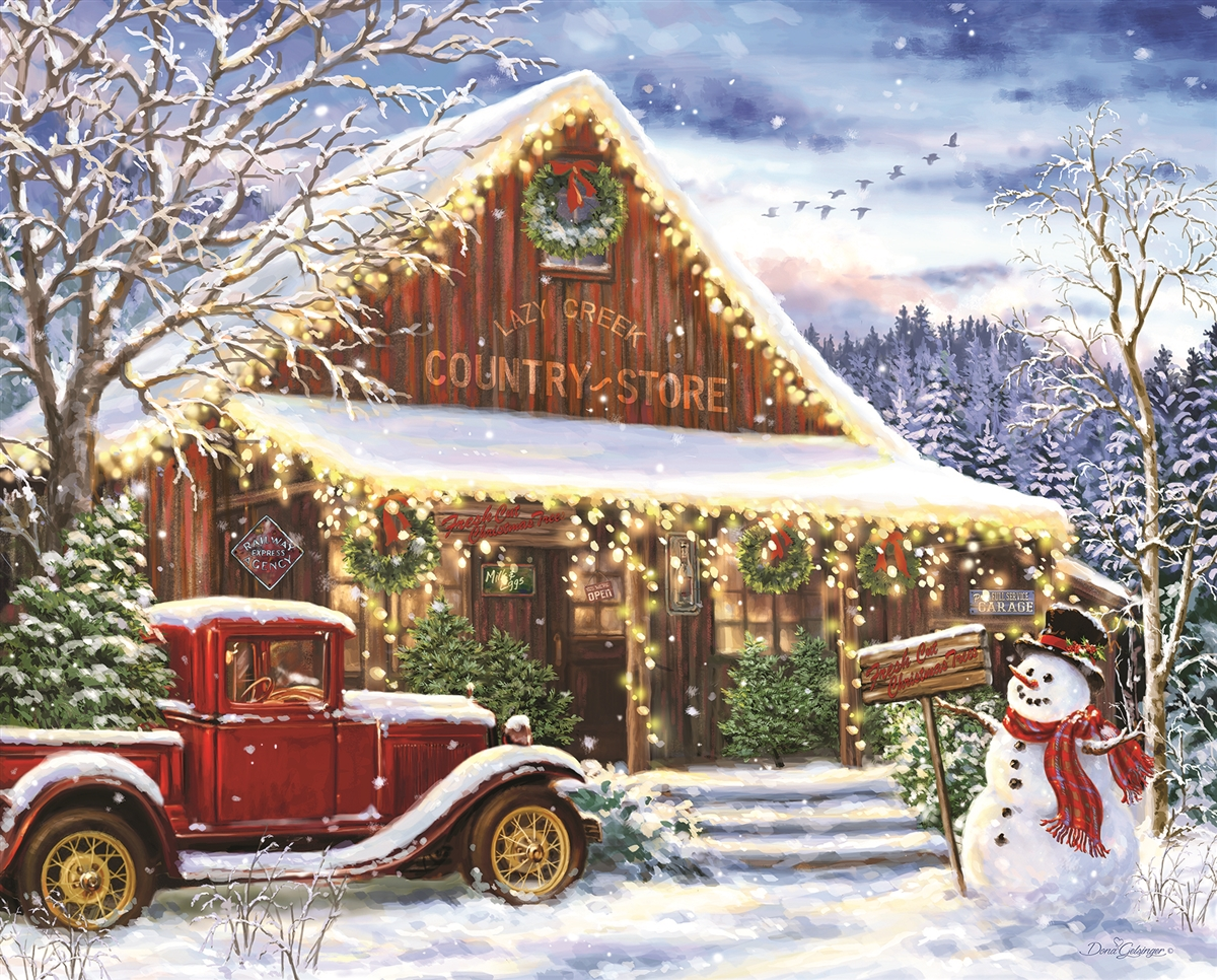 Christmas Jigsaw Puzzles.Details About Springbok Lazy Creek Country Store 1000 Piece Jigsaw Puzzle
