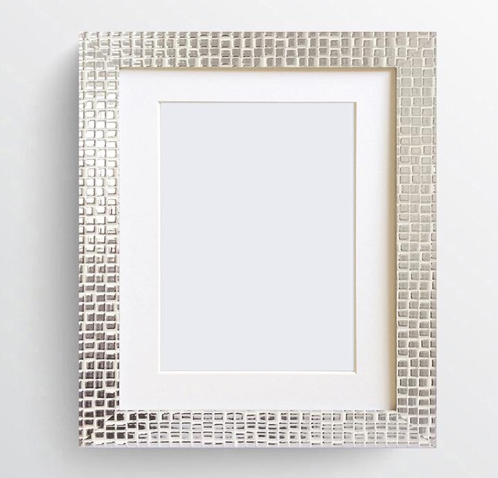A4 Certificate Modern Henley Chrome Mosaic Silver Photo Frame Glass ...