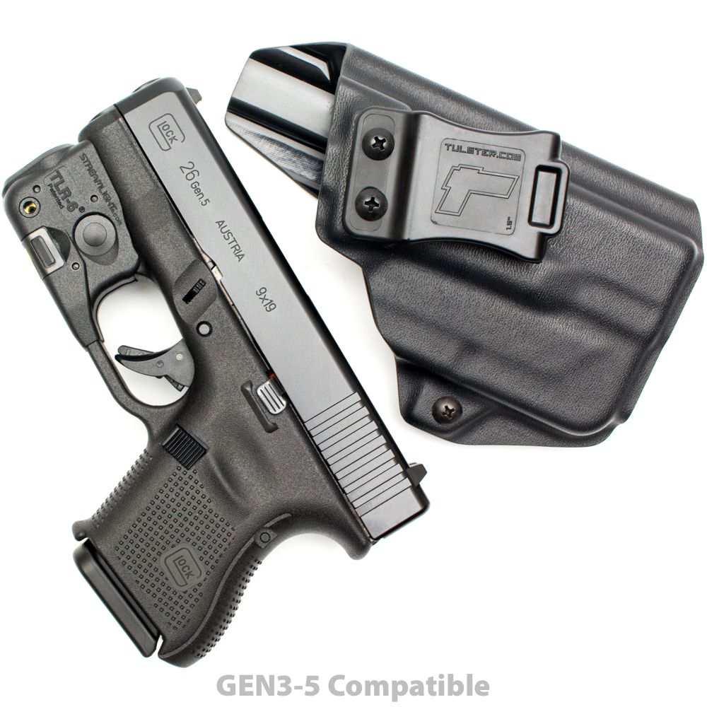 NEW-Tulster-Profile-IWB-AIWB-Holster-Glock-26-27-28-33-w-TLR-6-Right-Hand thumbnail 10