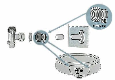 """Intex Tipo B Adaptador para piscinas sobre suelo convierte de 1.25/"""" a 1.5/"""" Artículo Nº 10722"""