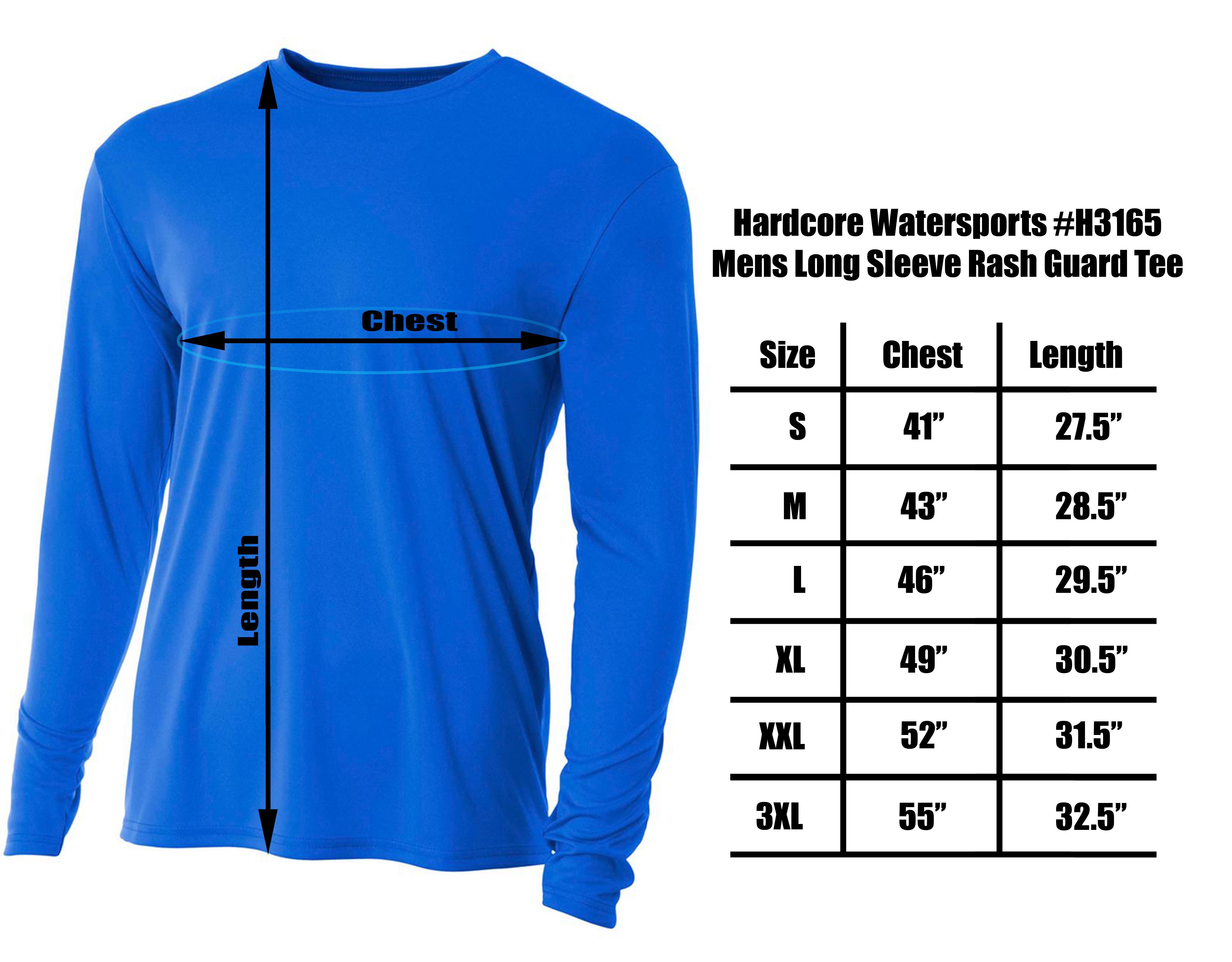 Men-039-s-Long-Sleeve-Loose-Fit-Rash-Guard-Surf-Shirt-Water-Sports-Swimwear thumbnail 8