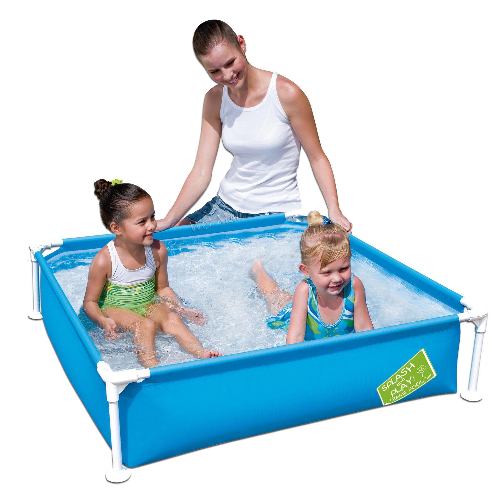 "my first frame pool 48""x48""x12"" mini square kids wading swimming"