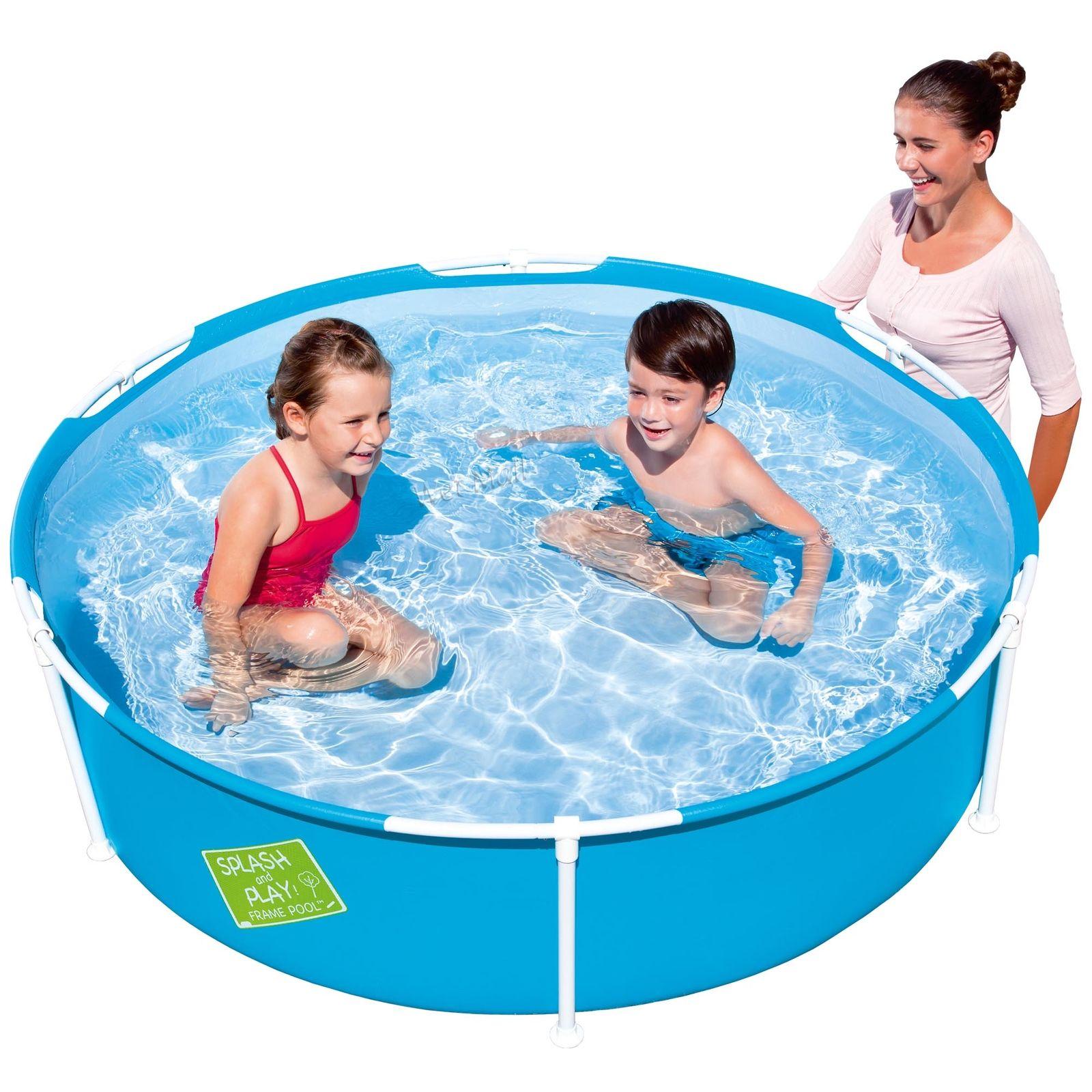 My First Frame Pool 60x15 Mini Round Kids Wading Kiddie Swimming Blue