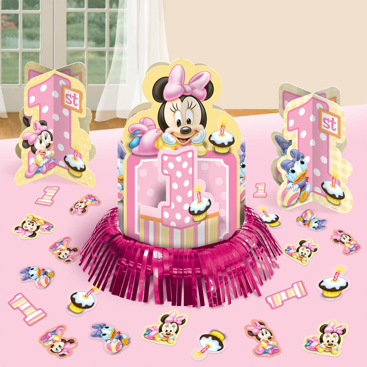 Minnie Mouse 1st Birthday Table Decorating Kit