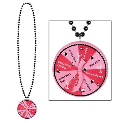 Beads with Bachelorette Spinner Medallion Bachelorette Hen Party Decoration