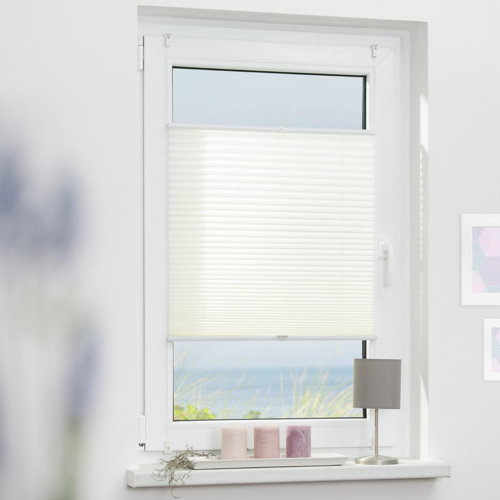 lichtblick plissee klemmfix ohne bohren verspannt faltrollo jalousie klemmtr ger ebay. Black Bedroom Furniture Sets. Home Design Ideas