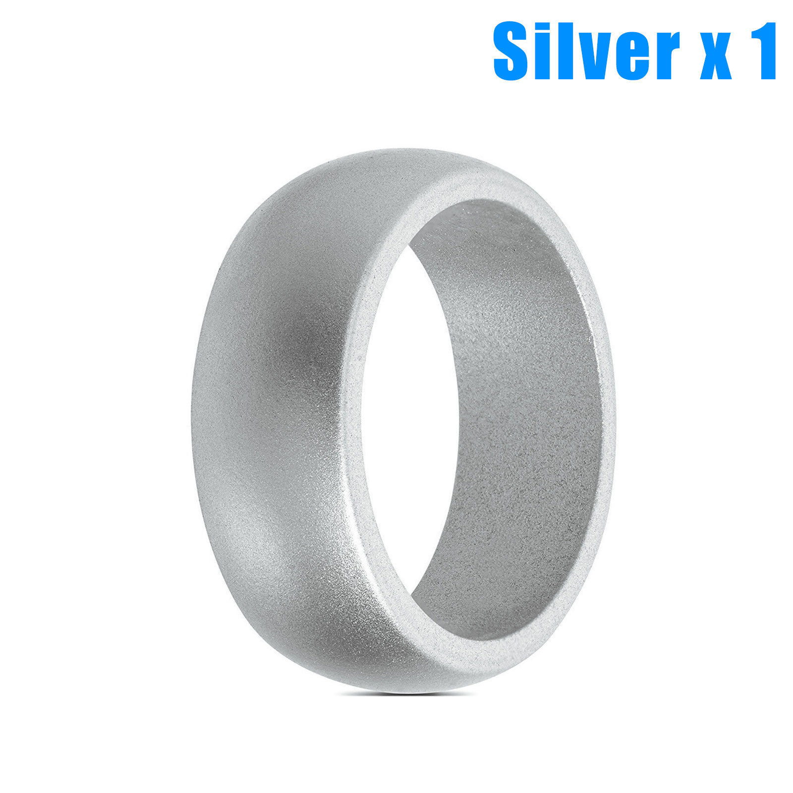 5x 1x Rubber Silicone Wedding Ring Band Sport Outdoor Flexible Men