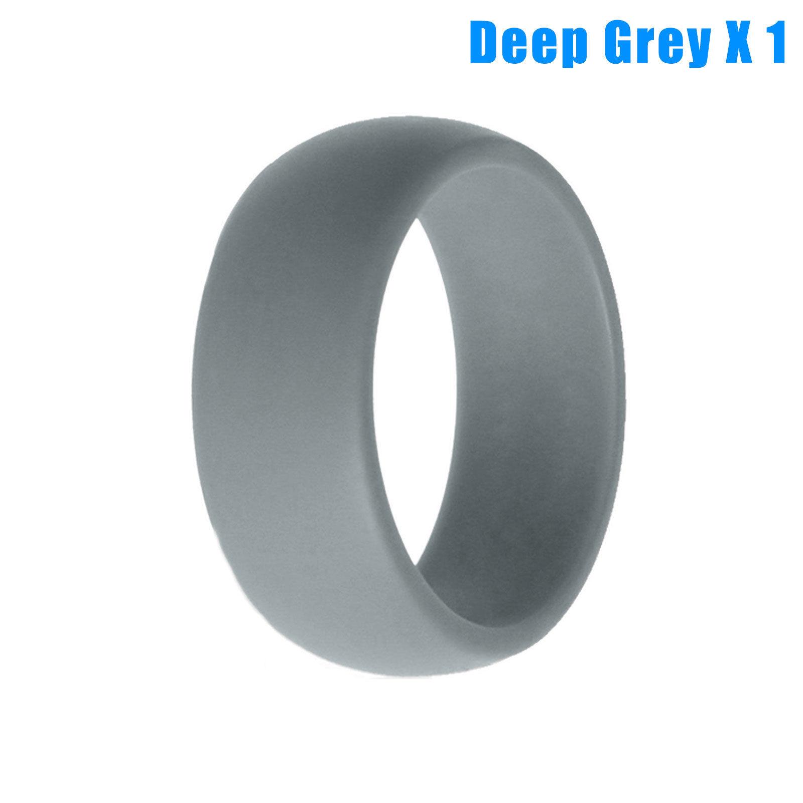 5x 1x Rubber Silicone Wedding Ring Band Sport Outdoor Flexible Men