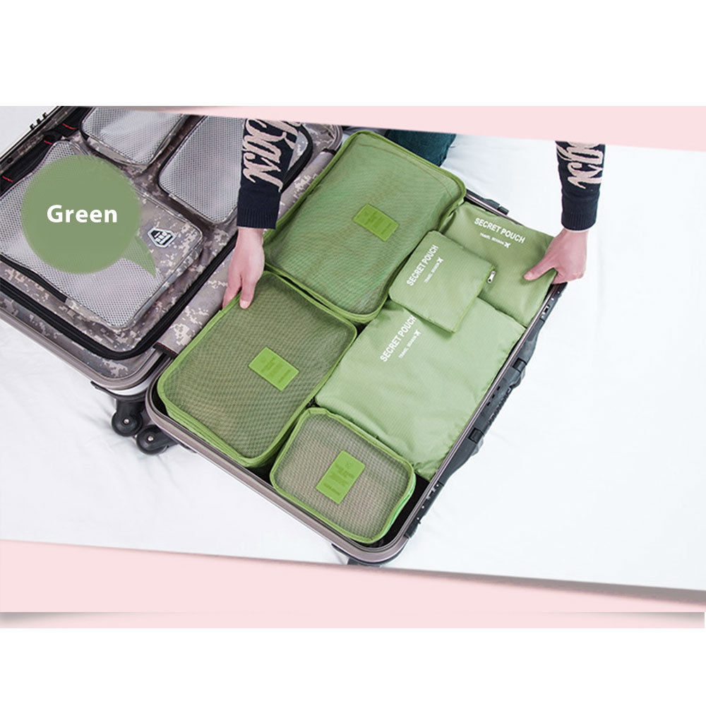 6Pcs-Waterproof-Clothes-Storage-Bags-Travel-Luggage-Packing-  sc 1 st  eBay & 6Pcs Waterproof Clothes Storage Bags Travel Luggage Packing Cube ...