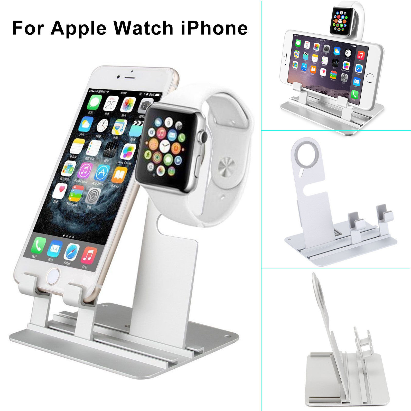 Aluminum Charging Dock Station Holder Stand For iWatch ...