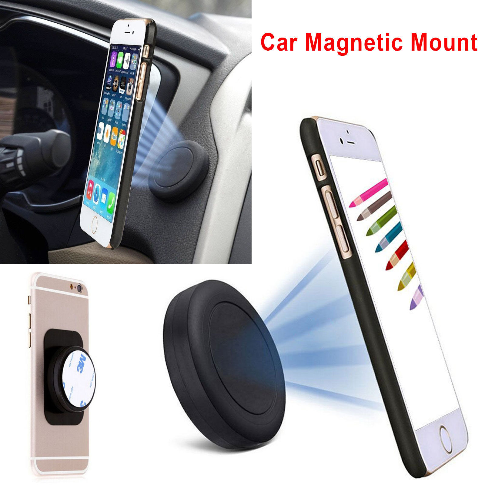 magnetic iphone car mount stick on dashboard magnetic car mount stand holder for 15661