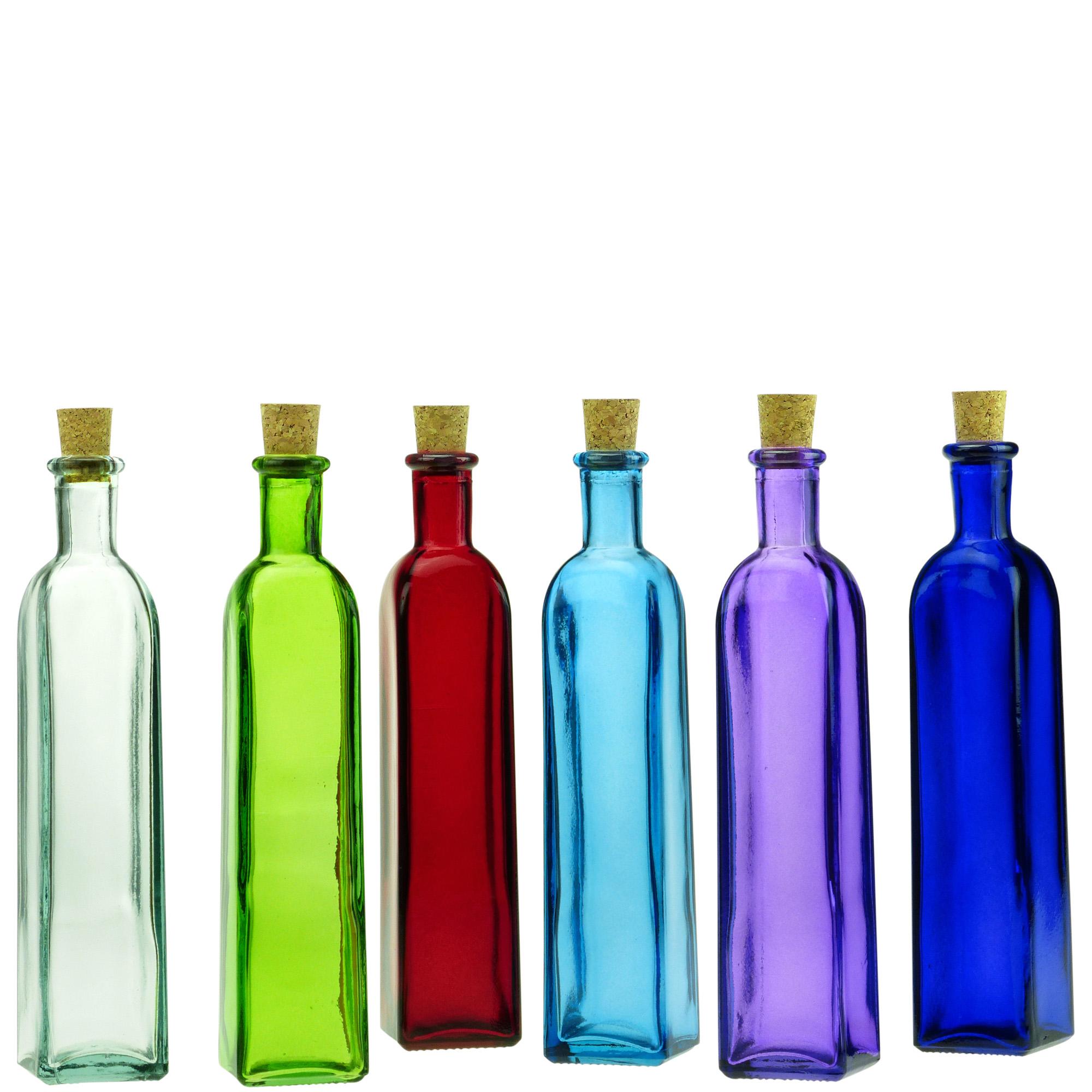1589409e38e5 Details about Couronne Co Rectangle Glass Bottle, G5314, 12 Ounce Capacity