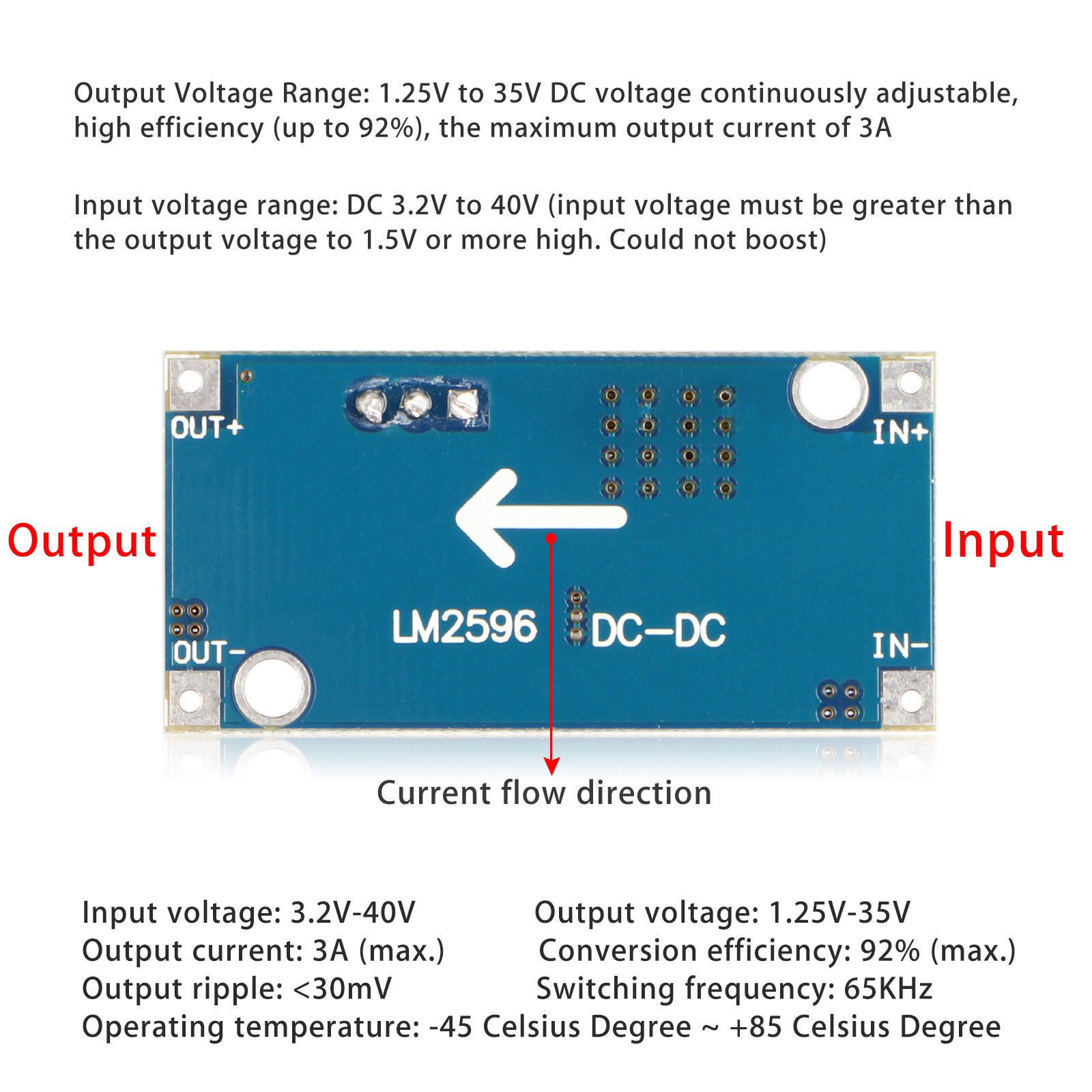 Mini-DC-DC-Converter-Step-Down-Module-Adjustable-Power-Supply-Output-1-25-35V thumbnail 17