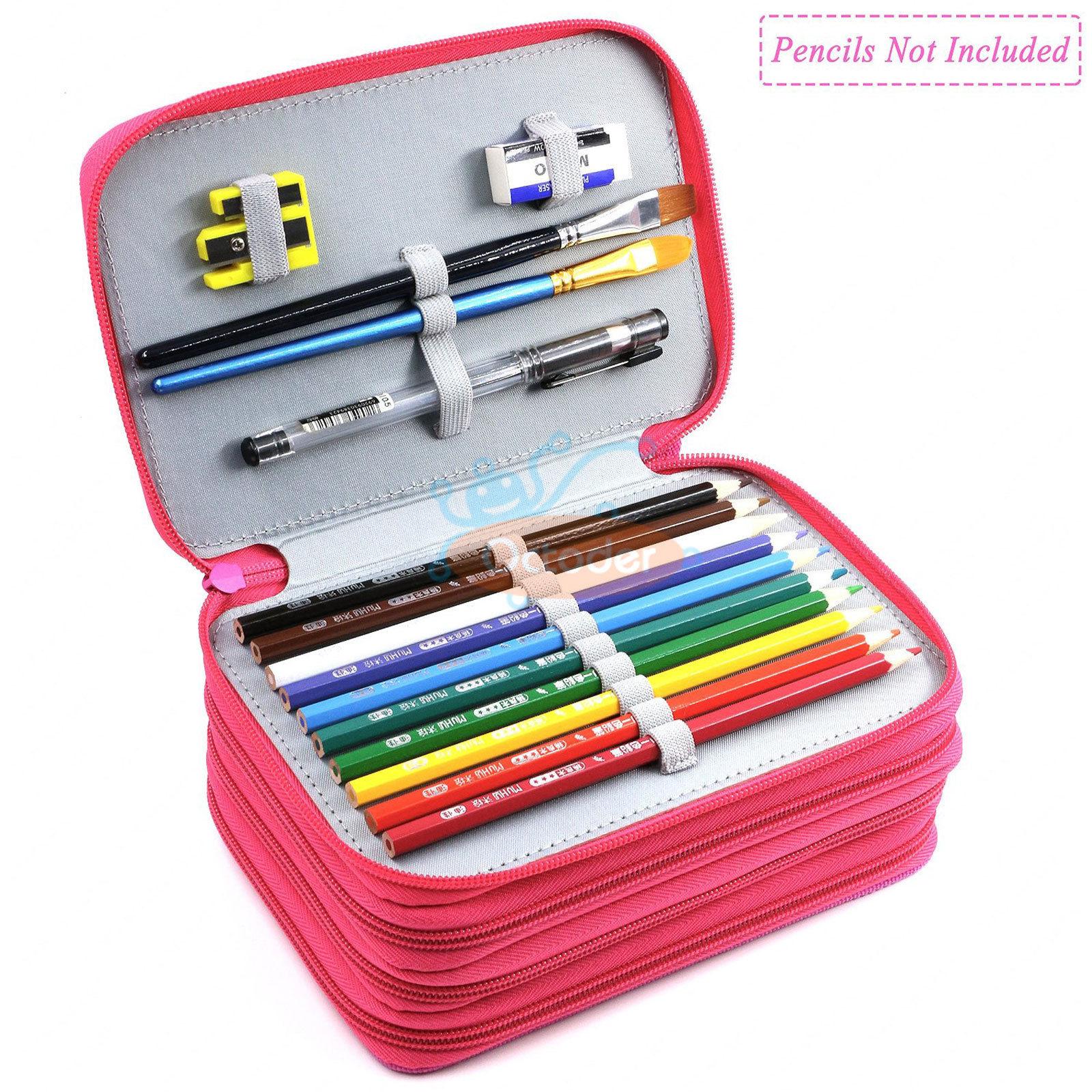 4-Layers-High-Capacity-Pencil-Brush-Case-Box-Pen-Pouch-Bag-Makeup-Storage-Bag thumbnail 17