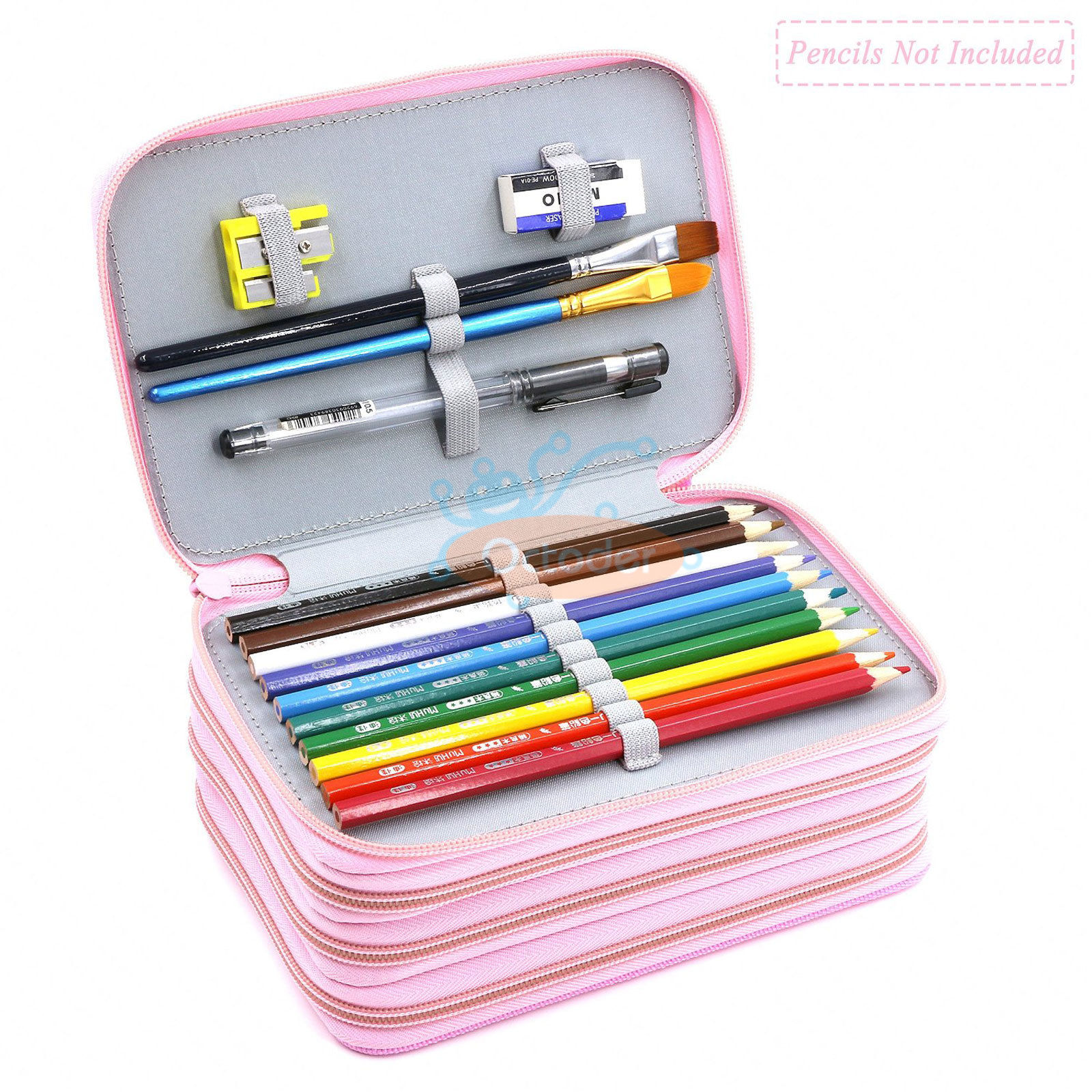 4-Layers-High-Capacity-Pencil-Brush-Case-Box-Pen-Pouch-Bag-Makeup-Storage-Bag thumbnail 21