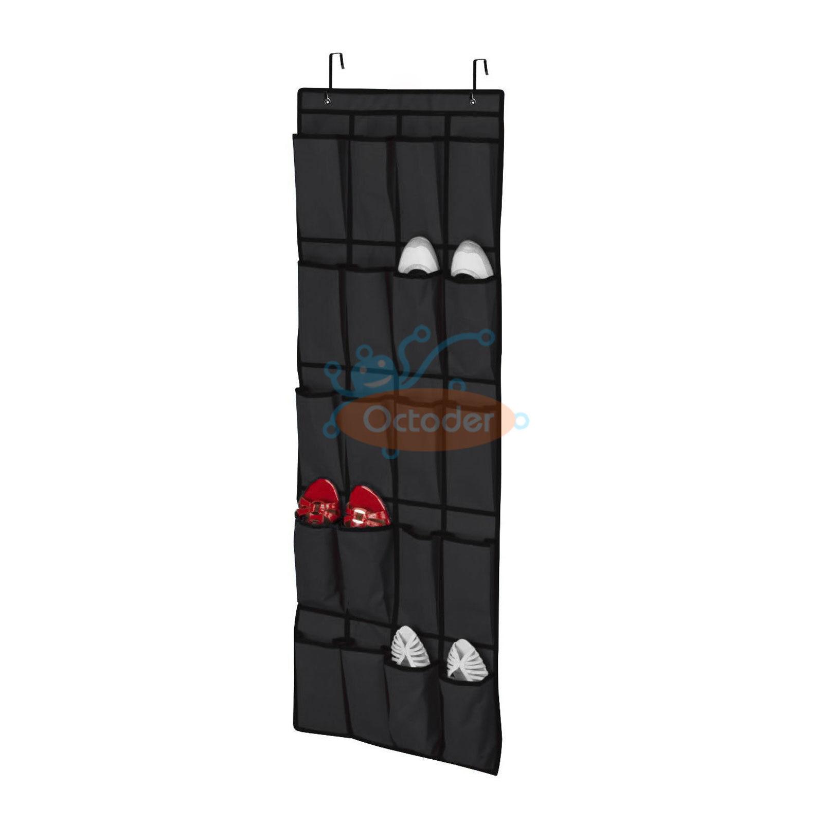 Elegant 20 Pocket Over The Door Shoe Organizer Rack