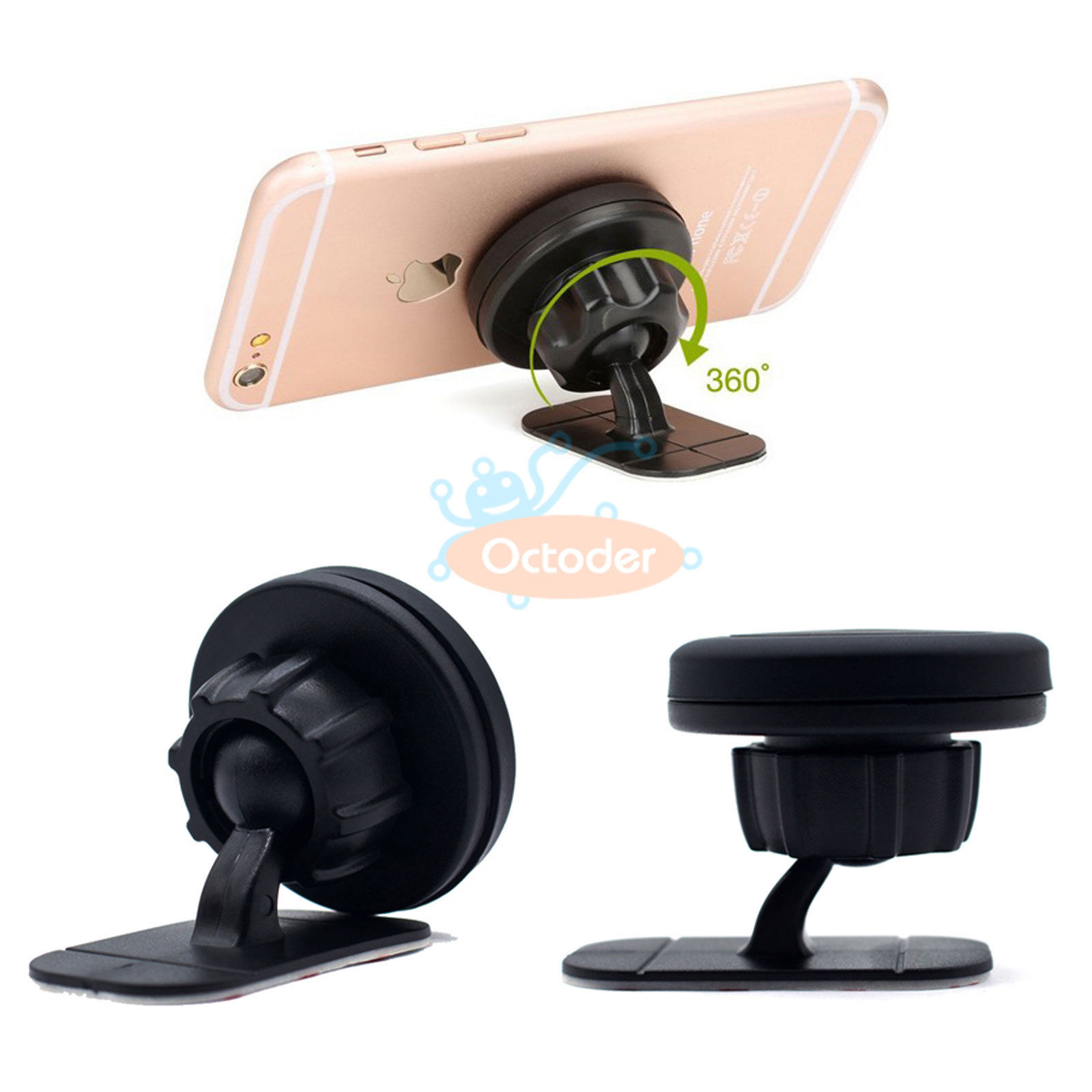 360° Universal Magnetic Car Mount Holder Cradle for iPhone ...