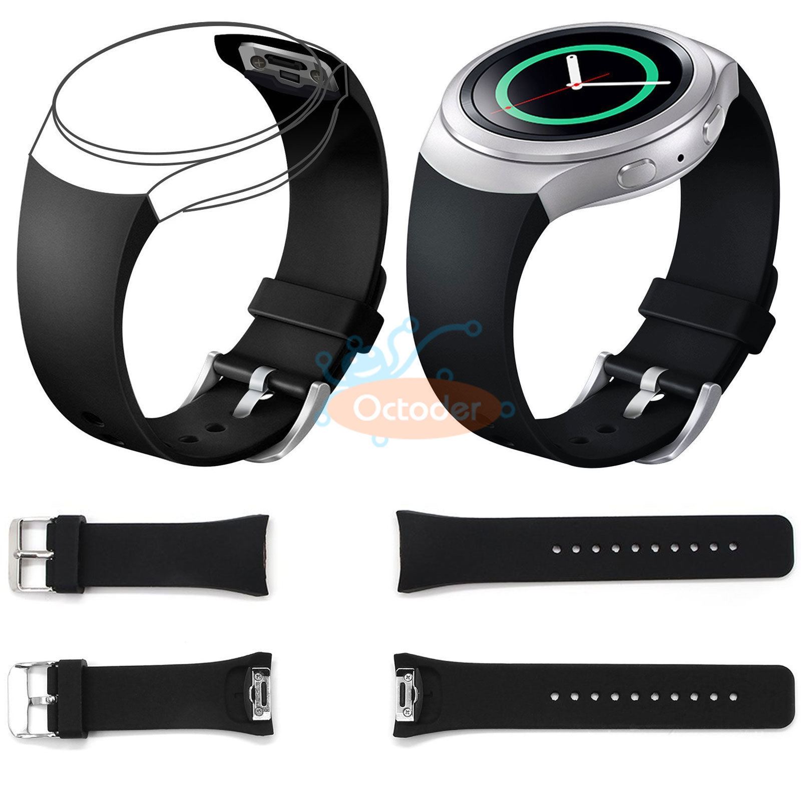 Replacement-Luxury-Silicone-Watch-Band-Strap-For-Samsung-Galaxy-Gear-S2-SM-R720 thumbnail 10