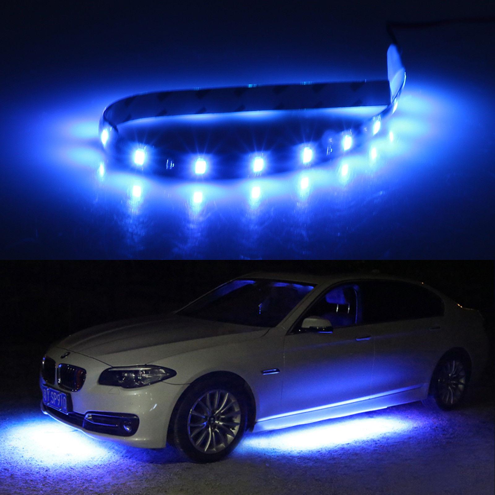 6pcs Waterproof Flexible 12 15 Led Strip Underbody Light For Car