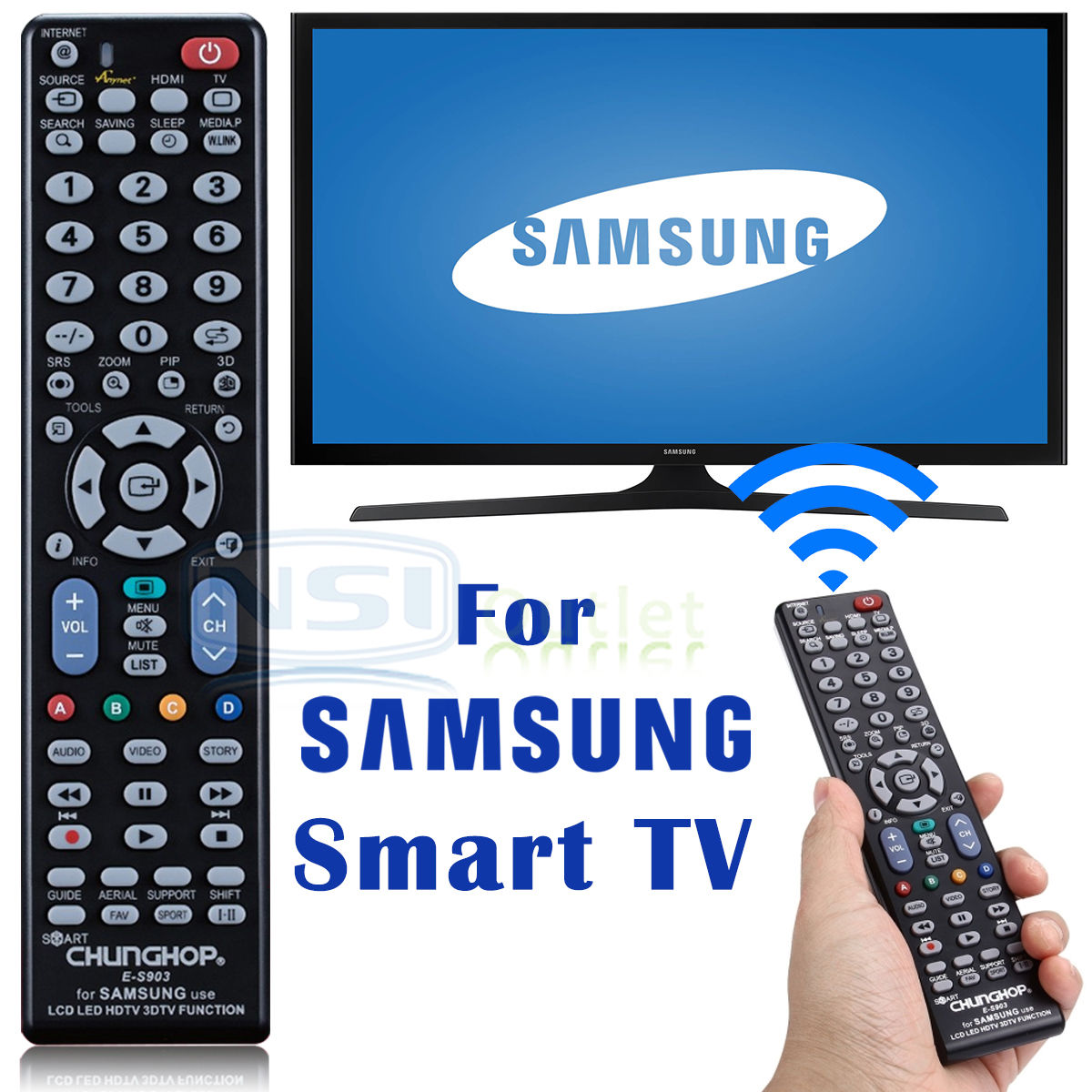 Replacement-Universal-TV-Remote-Control-For-Samsung-LCD-LED-Smart-TV-HDTV-US-NEW