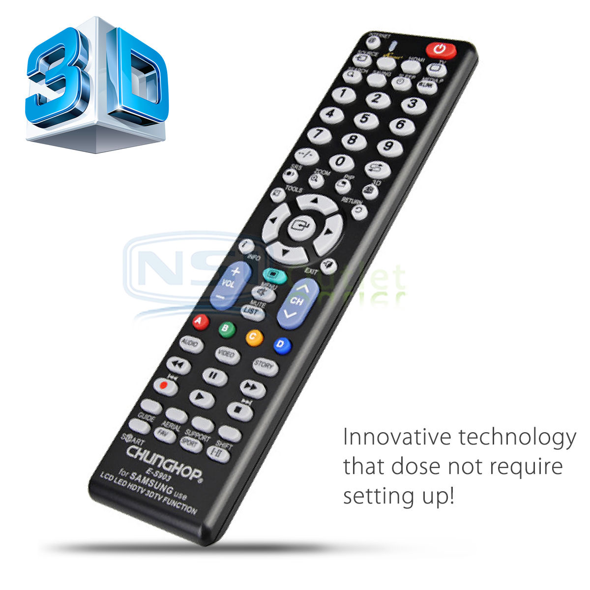 replacement universal tv remote control for samsung lcd led smart tv hdtv us new ebay. Black Bedroom Furniture Sets. Home Design Ideas