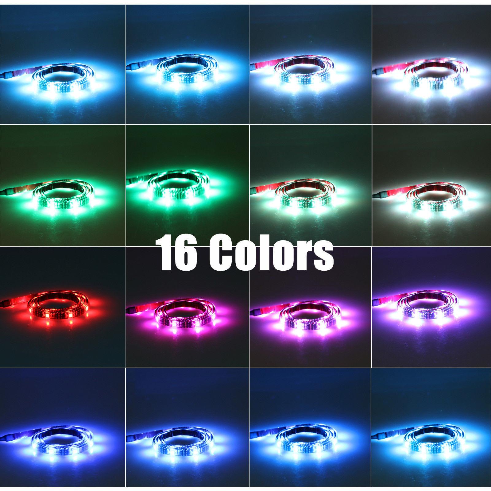USB-Powered-RGB-5050-LED-Strip-Light-TV-  sc 1 st  eBay & USB Powered RGB 5050 LED Strip Light TV Computer Background ... azcodes.com