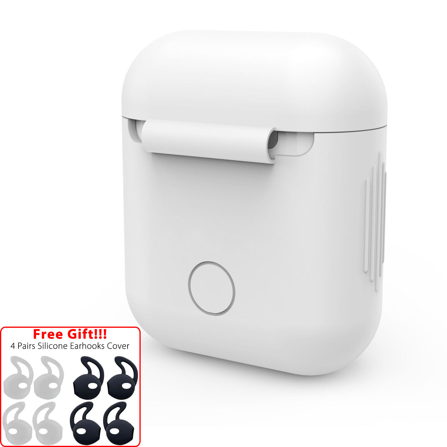 41c8cbe9b57 For Apple AirPods Accessories Silicone Cover Case+ 4 Pairs Earbud ...