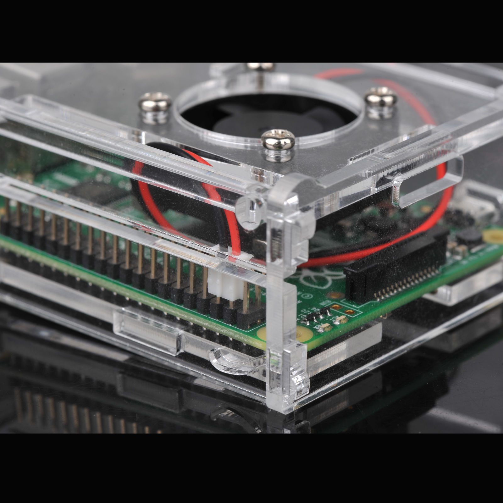 Clear-Acrylic-Case-Shell-Enclosure-Box-Cooling-Fan-For-Raspberry-Pi-2-3-B thumbnail 13