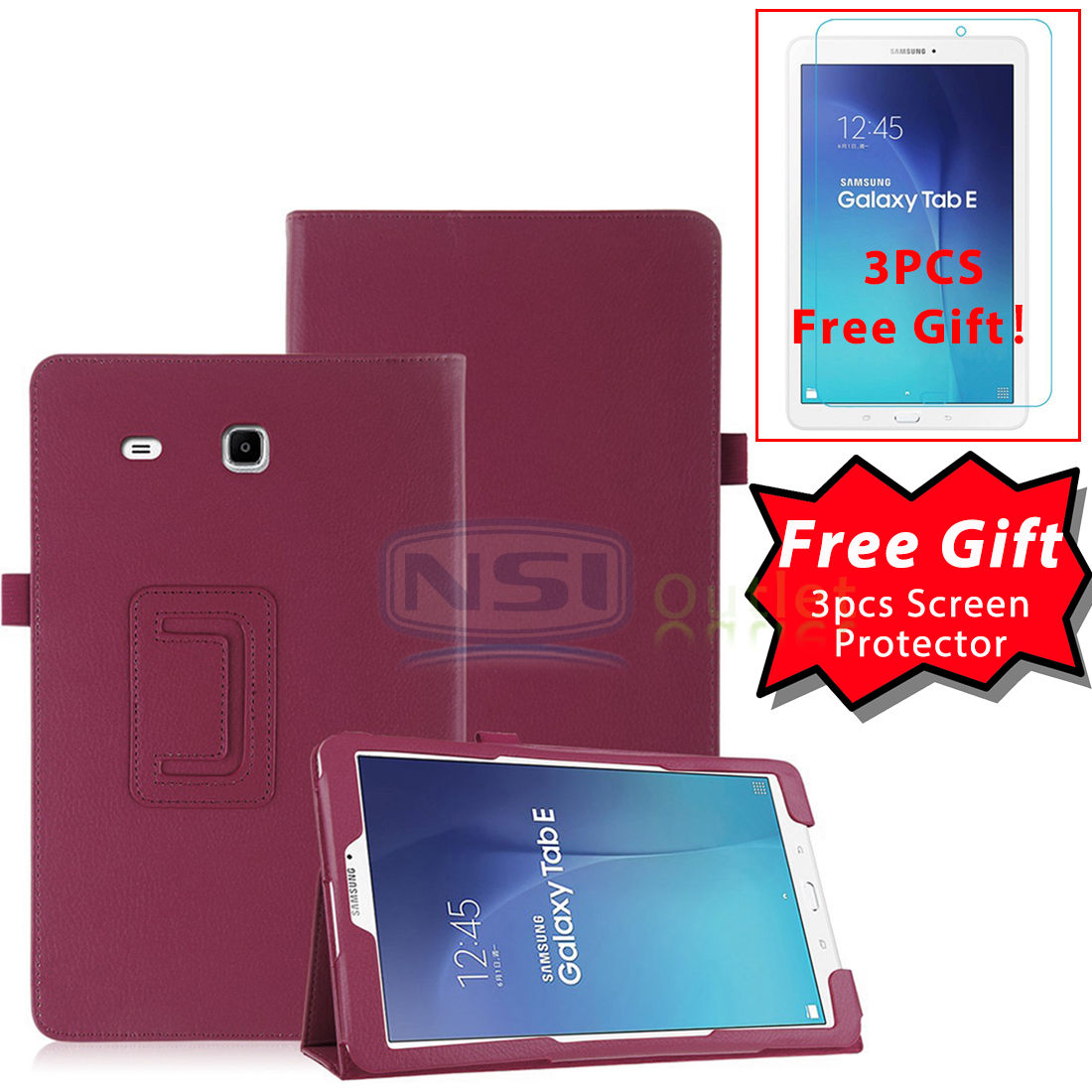 Folio-PU-Leather-Case-Stand-Cover-For-Samsung-Galaxy-Tab-E-9-6-034-8-0-034-SM-T377-New
