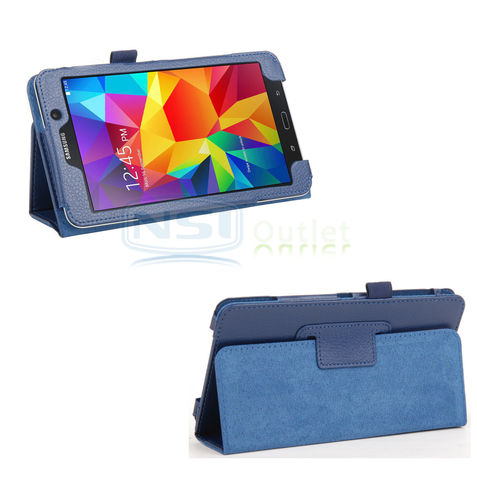 detailed look 81d31 34dc6 Details about Folio Stand Case Cover For Samsung Galaxy Tab 4 7 Inch  SM-T230NU T230 Tab 4 Nook