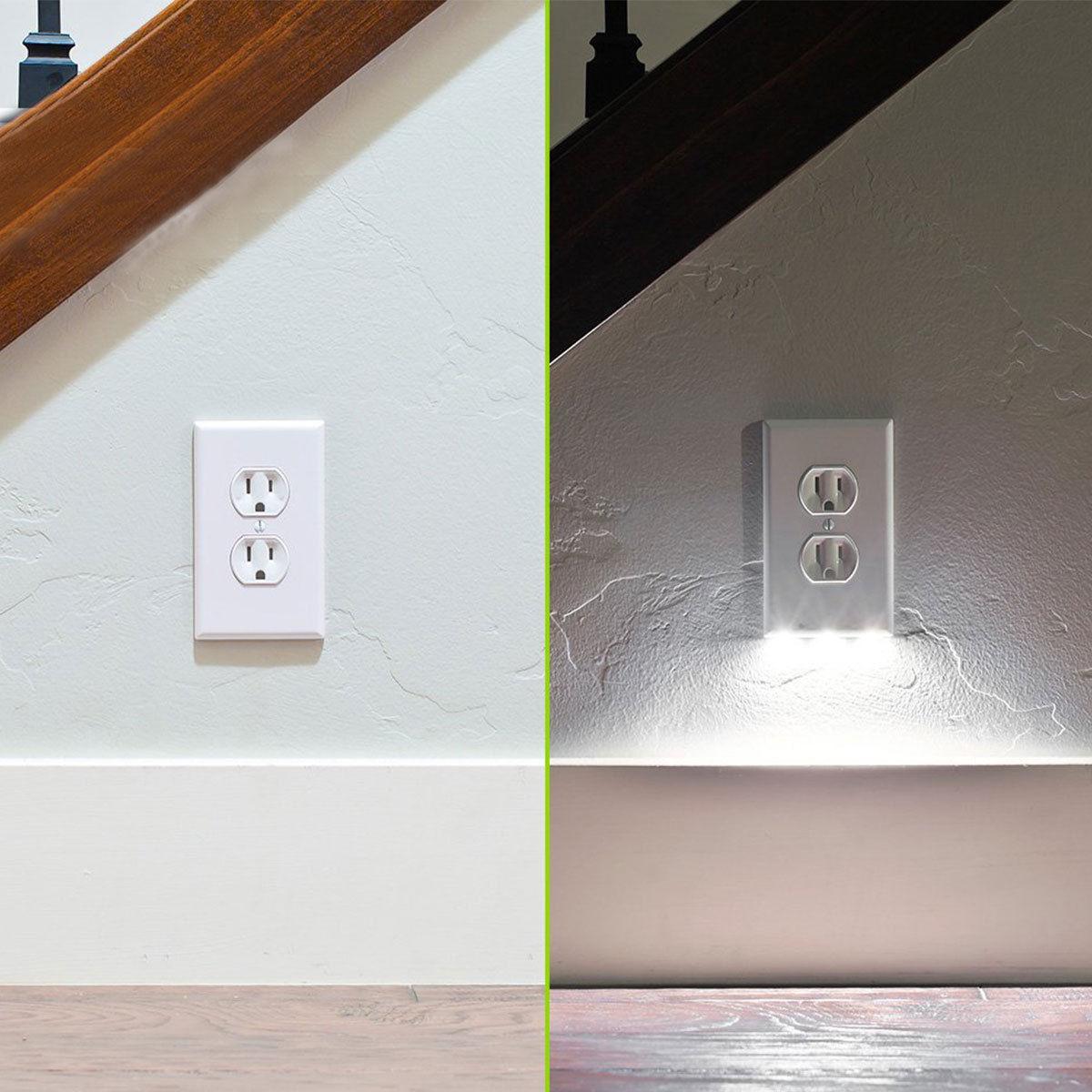 Lot plug cover led light sensor night light wall outlet face lot plug cover led light sensor night light mozeypictures Choice Image