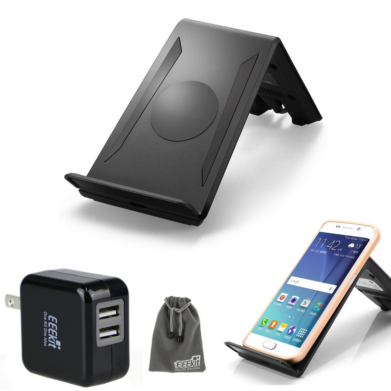 wireless charger charging pad dock station car mount for. Black Bedroom Furniture Sets. Home Design Ideas