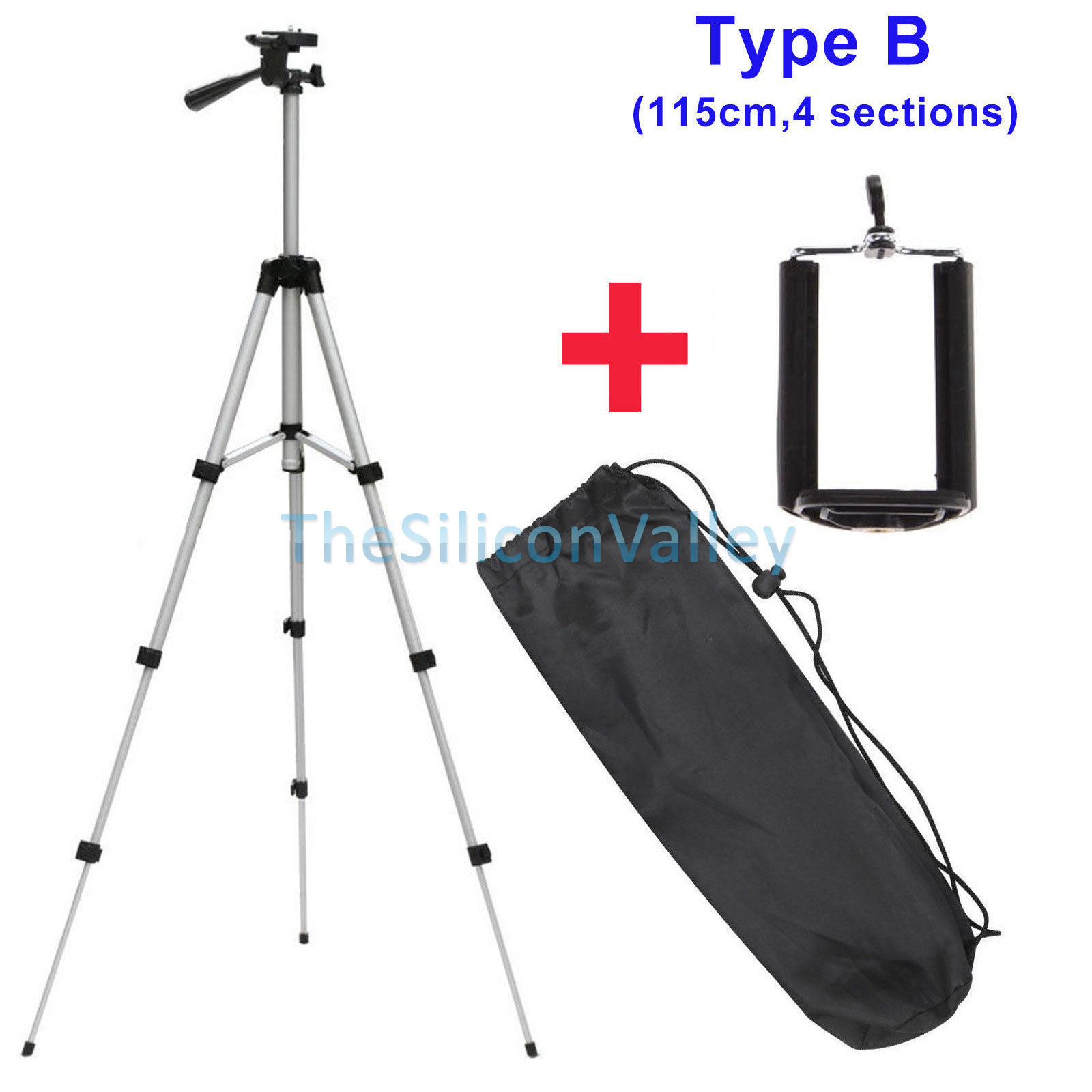 Portable Professional 360° Adjustable Camera Tripod Stand
