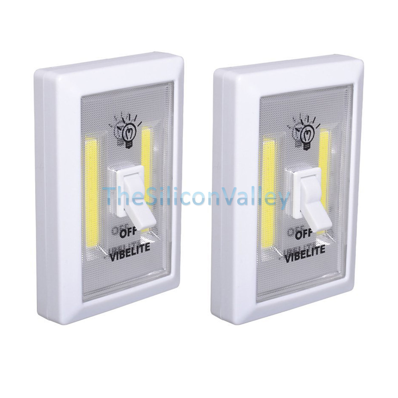 2x 1x Cob Led Wall Switch Wireless Battery Operated Closet