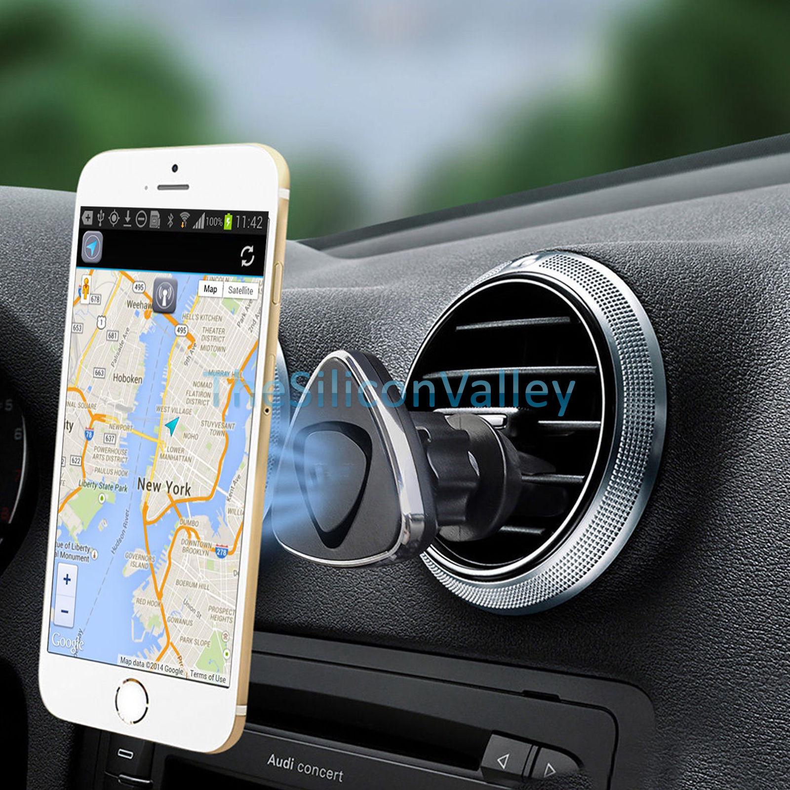 360 magnetic car stick on dashboard air vent mount holder. Black Bedroom Furniture Sets. Home Design Ideas