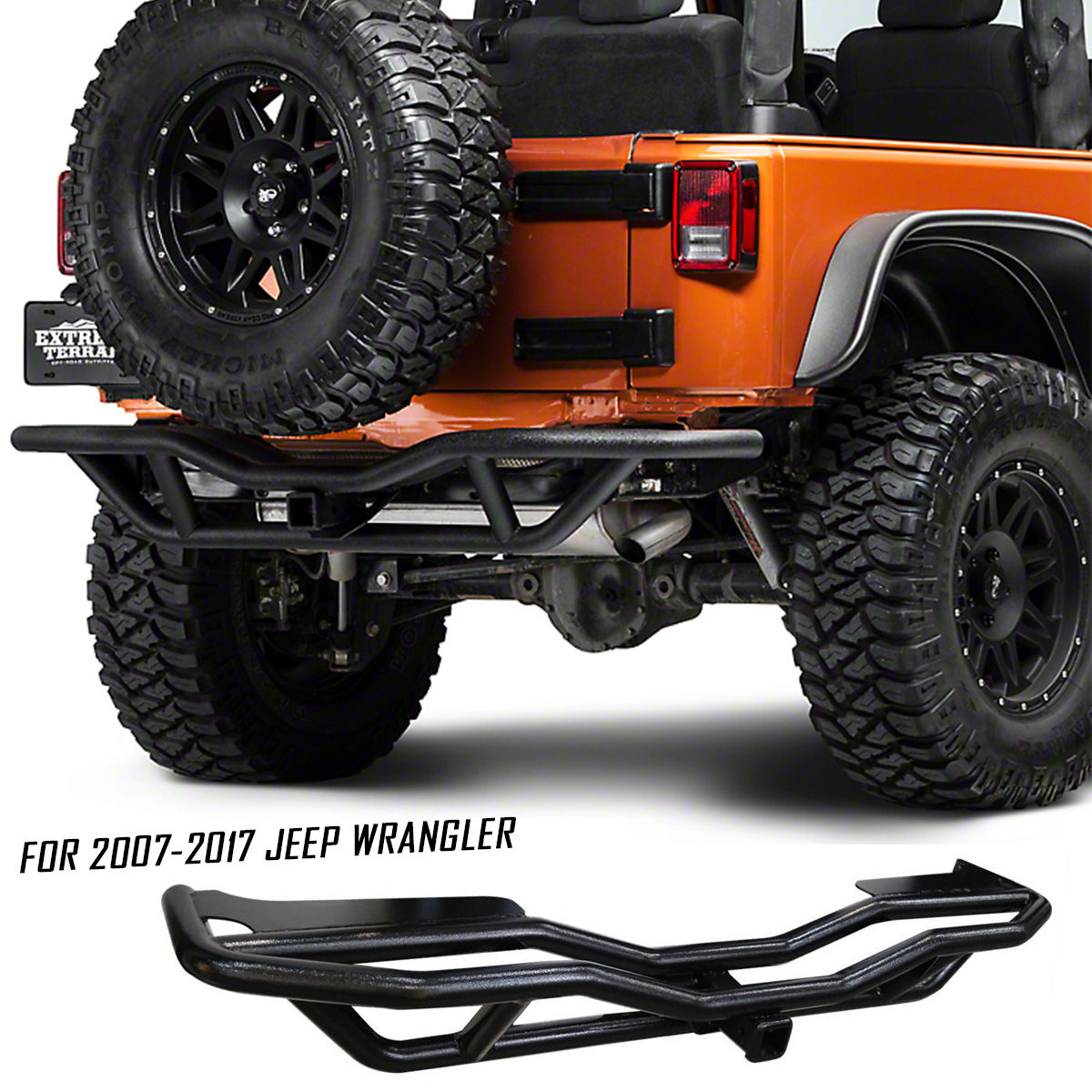 Jeep Wrangler JK Off Road Front /& Rear Tubular Guards Textured Black Rock Crawler for 2007 2008 2009 2010 2011 2012 2013 2014 2015 2016 2017 2018 Jeep JK Wrangler Unlimited 4 Door Set