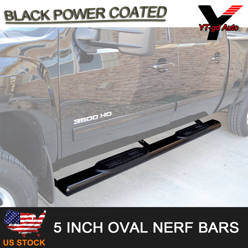 "2009-2018 DODGE RAM 1500 CREW CAB 5/"" INCH OVAL Nerf Bars Side Step Running Board"