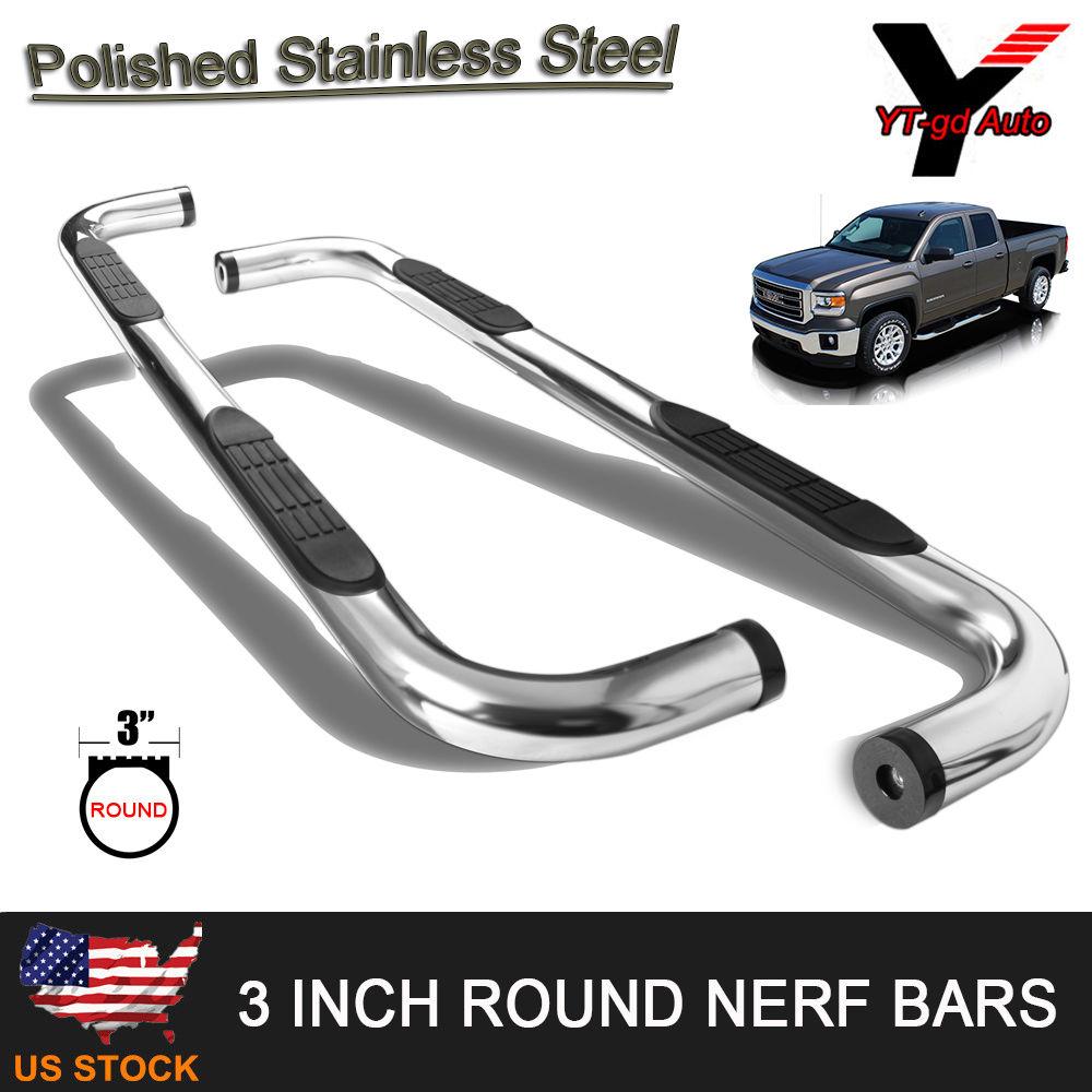 """Fits 1998-2001 Dodge Ram 1500 Quad Cab 3"""" INCH Nerf Bar"""
