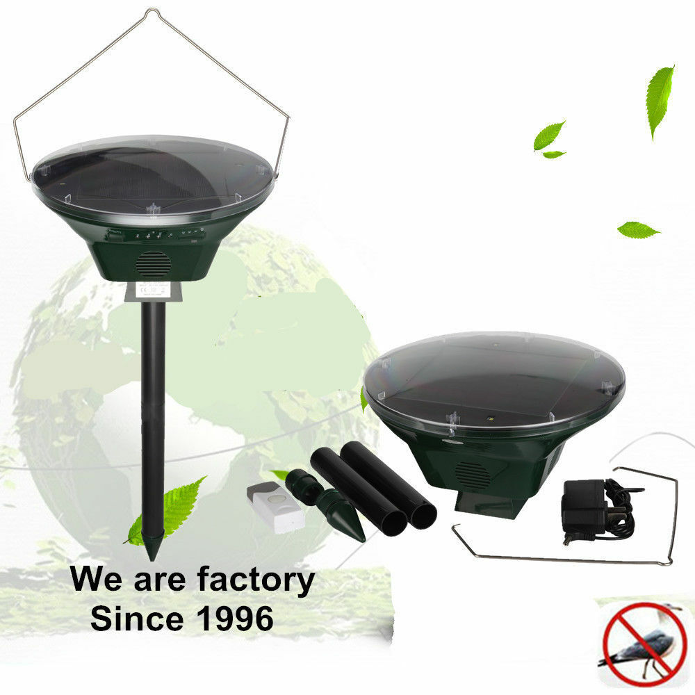 Details about Solar Ultrasonic Bird Repellent Eagle Cry Sound Bird Scare  Bird Remove Control