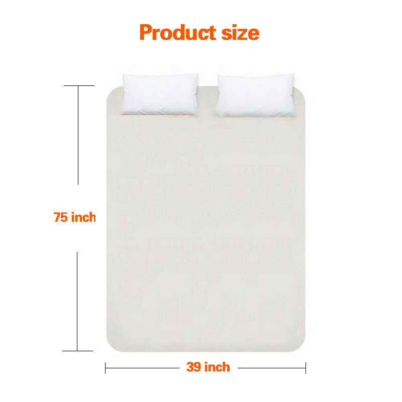 Remote-Control-Heated-Mattress-Pad-Temperature-Timing-Control-Twin-Queen-King