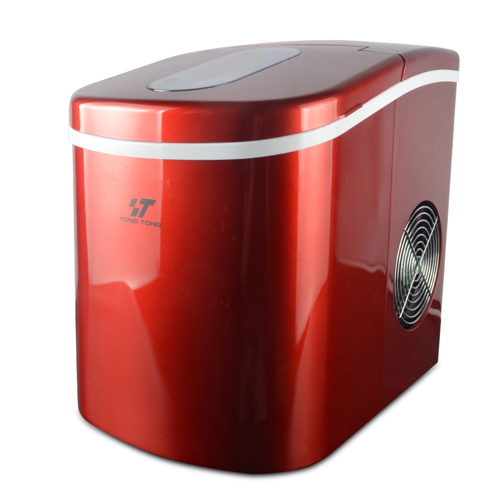Portable Ice Cube Ice Maker Freestanding Countertop ICE Making Machine 26 Lb/Day Red