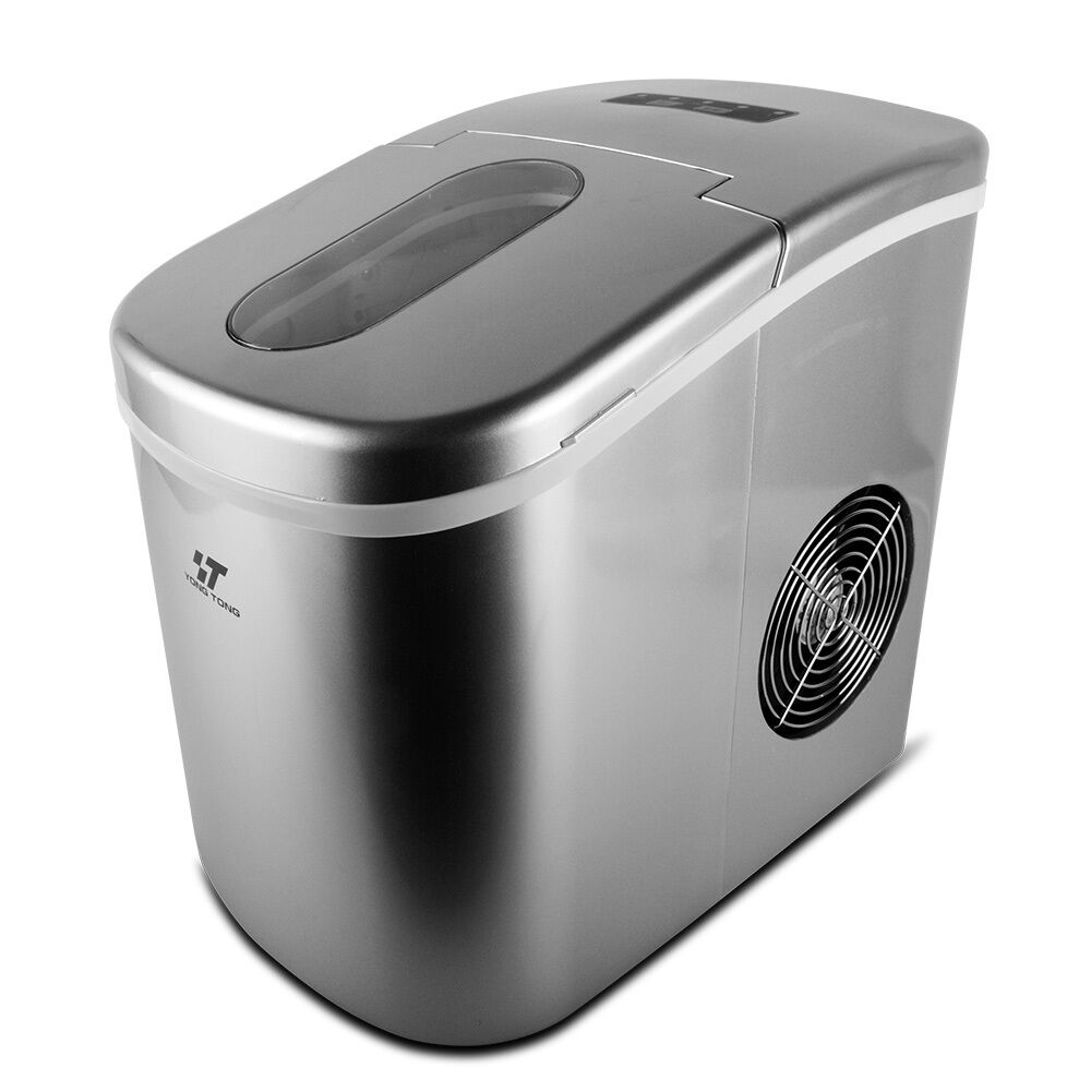 Portable Ice Cube Ice Maker Freestanding Countertop ICE Making Machine 26 Lb/Day Silver