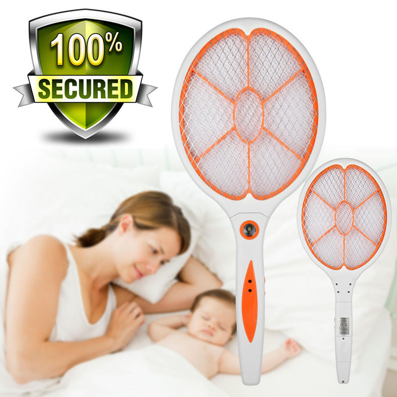 Details about Battery DC Power High-voltage Electric Mosquito Swatter Fly  Racket Bug Zapper